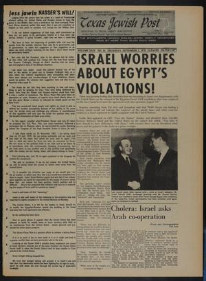 Primary view of object titled 'Texas Jewish Post (Fort Worth, Tex.), Vol. 24, No. 36, Ed. 1 Thursday, September 3, 1970'.