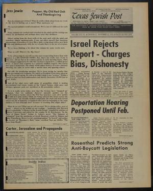 Primary view of object titled 'Texas Jewish Post (Fort Worth, Tex.), Vol. 30, No. 48, Ed. 1 Thursday, November 25, 1976'.