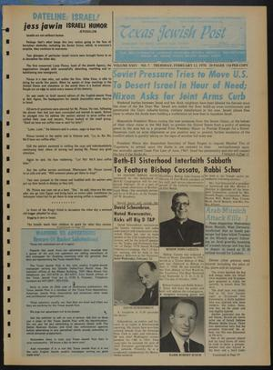 Primary view of object titled 'Texas Jewish Post (Fort Worth, Tex.), Vol. 24, No. 7, Ed. 1 Thursday, February 12, 1970'.