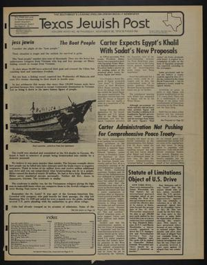 Primary view of object titled 'Texas Jewish Post (Fort Worth, Tex.), Vol. 32, No. 48, Ed. 1 Thursday, November 30, 1978'.