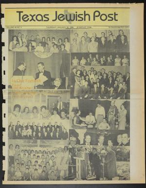 Primary view of object titled 'Texas Jewish Post (Fort Worth, Tex.), Vol. 40, No. 5, Ed. 1 Thursday, January 30, 1986'.