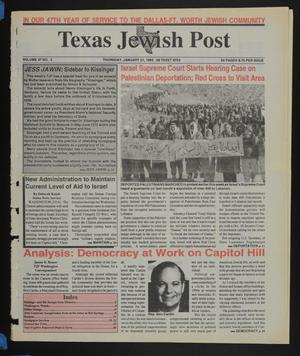 Primary view of object titled 'Texas Jewish Post (Fort Worth, Tex.), Vol. 47, No. 3, Ed. 1 Thursday, January 21, 1993'.