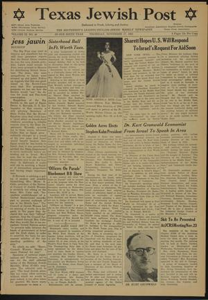 Primary view of Texas Jewish Post (Fort Worth, Tex.), Vol. 9, No. 46, Ed. 1 Thursday, November 17, 1955