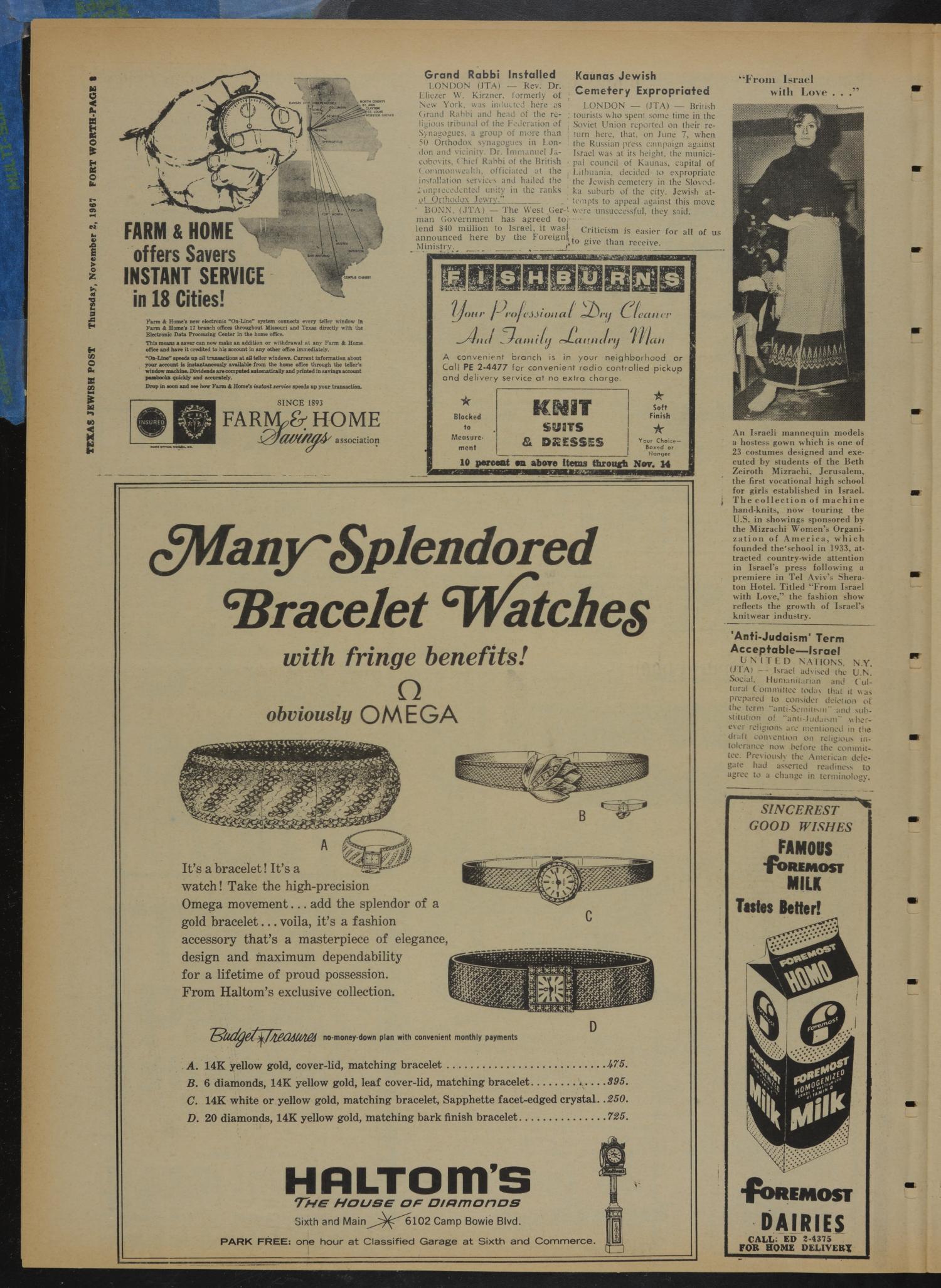 Texas Jewish Post (Fort Worth, Tex ), Vol  21, No  44, Ed  1