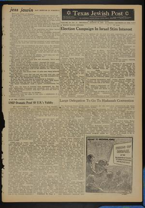 Primary view of object titled 'Texas Jewish Post (Fort Worth, Tex.), Vol. 15, No. 32, Ed. 1 Thursday, August 10, 1961'.
