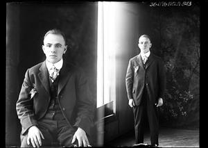 Primary view of object titled '[Two Poses of Unknown Man]'.