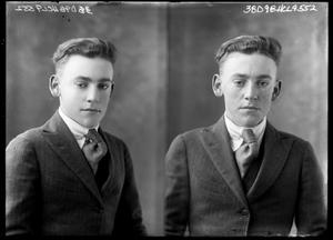 Primary view of object titled '[Two Poses of Unknown Young Man]'.
