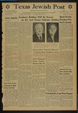 Primary view of object titled 'Texas Jewish Post (Fort Worth, Tex.), Vol. 9, No. 20, Ed. 1 Thursday, May 19, 1955'.