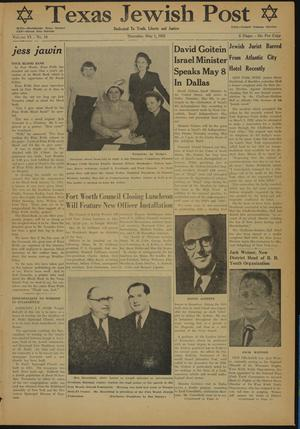 Primary view of object titled 'Texas Jewish Post (Fort Worth, Tex.), Vol. 6, No. 18, Ed. 1 Thursday, May 1, 1952'.