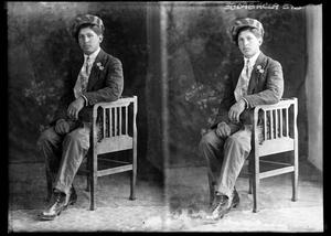 Primary view of object titled '[Two Portraits of Unknown Young Man]'.