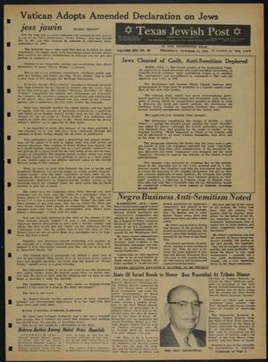 Primary view of object titled 'Texas Jewish Post (Fort Worth, Tex.), Vol. 19, No. 42, Ed. 1 Thursday, October 21, 1965'.
