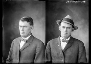 Primary view of object titled '[Two Portraits of Unknown Man]'.