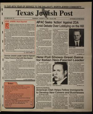 Primary view of object titled 'Texas Jewish Post (Fort Worth, Tex.), Vol. 48, No. 32, Ed. 1 Thursday, August 11, 1994'.