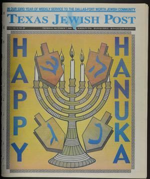 Primary view of object titled 'Texas Jewish Post (Fort Worth, Tex.), Vol. 54, No. 49, Ed. 1 Thursday, December 7, 2000'.