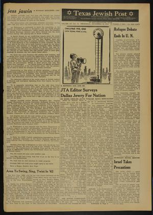 Primary view of object titled 'Texas Jewish Post (Fort Worth, Tex.), Vol. 15, No. 52, Ed. 1 Thursday, December 28, 1961'.