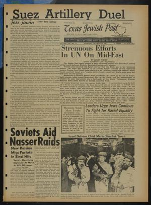 Primary view of object titled 'Texas Jewish Post (Fort Worth, Tex.), Vol. 21, No. 43, Ed. 1 Thursday, October 26, 1967'.