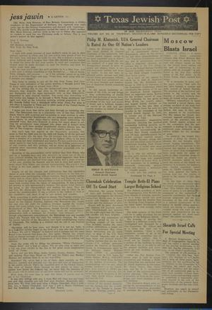 Primary view of object titled 'Texas Jewish Post (Fort Worth, Tex.), Vol. 14, No. 50, Ed. 1 Thursday, December 15, 1960'.