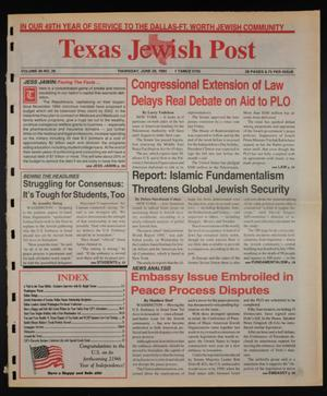 Primary view of object titled 'Texas Jewish Post (Fort Worth, Tex.), Vol. 49, No. 26, Ed. 1 Thursday, June 29, 1995'.