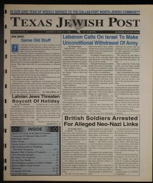 Primary view of object titled 'Texas Jewish Post (Fort Worth, Tex.), Vol. 53, No. 10, Ed. 1 Thursday, March 11, 1999'.