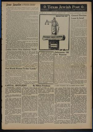 Primary view of object titled 'Texas Jewish Post (Fort Worth, Tex.), Vol. 15, No. 10, Ed. 1 Thursday, March 9, 1961'.