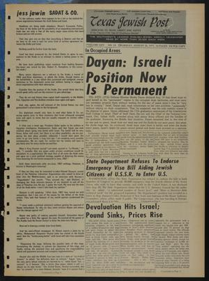 Primary view of object titled 'Texas Jewish Post (Fort Worth, Tex.), Vol. 25, No. 34, Ed. 1 Thursday, August 26, 1971'.