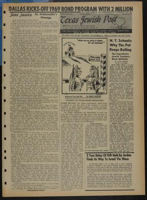 Primary view of object titled 'Texas Jewish Post (Fort Worth, Tex.), Vol. 22, No. 49, Ed. 1 Thursday, December 5, 1968'.
