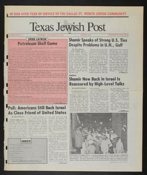 Primary view of object titled 'Texas Jewish Post (Fort Worth, Tex.), Vol. 44, No. 51, Ed. 1 Thursday, December 20, 1990'.