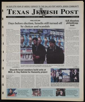 Primary view of object titled 'Texas Jewish Post (Fort Worth, Tex.), Vol. 57, No. 4, Ed. 1 Thursday, January 23, 2003'.
