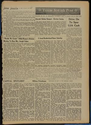 Primary view of object titled 'Texas Jewish Post (Fort Worth, Tex.), Vol. 15, No. 40, Ed. 1 Thursday, October 5, 1961'.