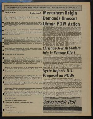 Primary view of object titled 'Texas Jewish Post (Fort Worth, Tex.), Vol. 28, No. 8, Ed. 1 Thursday, February 21, 1974'.