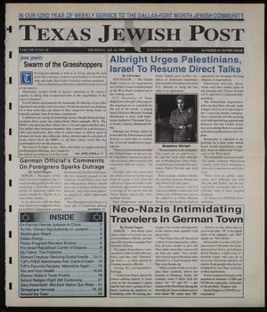 Primary view of object titled 'Texas Jewish Post (Fort Worth, Tex.), Vol. 52, No. 29, Ed. 1 Thursday, July 16, 1998'.