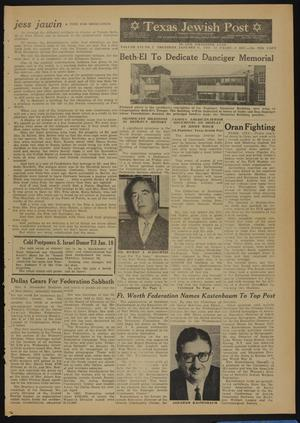 Primary view of object titled 'Texas Jewish Post (Fort Worth, Tex.), Vol. 16, No. 2, Ed. 1 Thursday, January 11, 1962'.