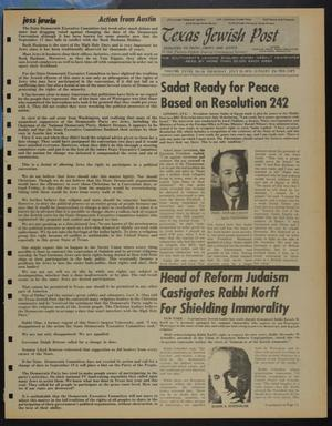 Primary view of object titled 'Texas Jewish Post (Fort Worth, Tex.), Vol. 28, No. 30, Ed. 1 Thursday, July 25, 1974'.