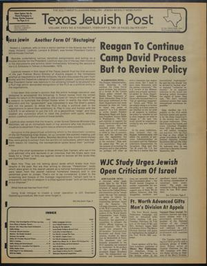 Primary view of object titled 'Texas Jewish Post (Fort Worth, Tex.), Vol. 35, No. 6, Ed. 1 Thursday, February 5, 1981'.