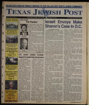 Primary view of object titled 'Texas Jewish Post (Fort Worth, Tex.), Vol. 55, No. 8, Ed. 1 Thursday, February 22, 2001'.