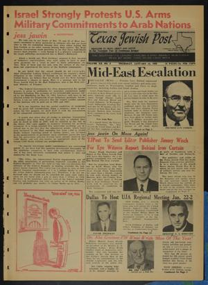 Primary view of object titled 'Texas Jewish Post (Fort Worth, Tex.), Vol. 20, No. 2, Ed. 1 Thursday, January 13, 1966'.