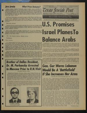 Primary view of object titled 'Texas Jewish Post (Fort Worth, Tex.), Vol. 28, No. 27, Ed. 1 Thursday, July 4, 1974'.