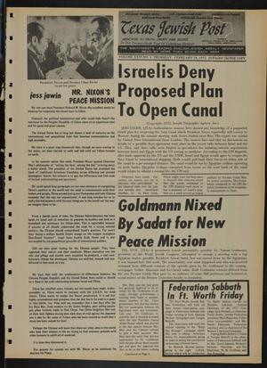 Primary view of object titled 'Texas Jewish Post (Fort Worth, Tex.), Vol. 26, No. 8, Ed. 1 Thursday, February 24, 1972'.
