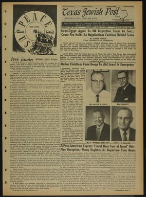 Primary view of object titled 'Texas Jewish Post (Fort Worth, Tex.), Vol. 21, No. 28, Ed. 1 Thursday, July 13, 1967'.