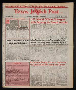 Primary view of object titled 'Texas Jewish Post (Fort Worth, Tex.), Vol. 49, No. 25, Ed. 1 Thursday, June 22, 1995'.