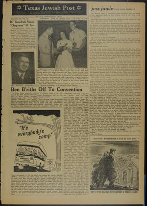 Primary view of object titled 'Texas Jewish Post (Fort Worth, Tex.), Vol. 13, No. 25, Ed. 1 Thursday, June 18, 1959'.