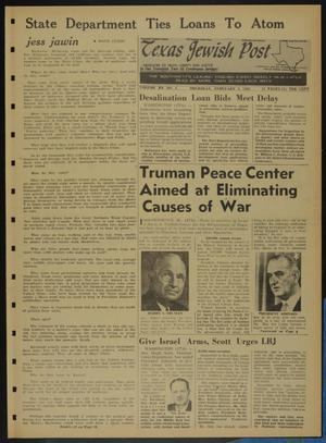Primary view of object titled 'Texas Jewish Post (Fort Worth, Tex.), Vol. 20, No. 5, Ed. 1 Thursday, February 3, 1966'.
