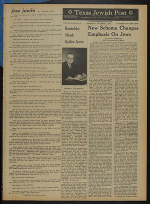 Primary view of object titled 'Texas Jewish Post (Fort Worth, Tex.), Vol. 18, No. 40, Ed. 1 Thursday, October 1, 1964'.