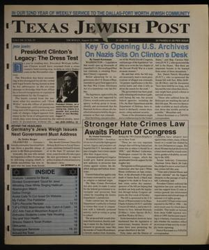 Primary view of object titled 'Texas Jewish Post (Fort Worth, Tex.), Vol. 52, No. 33, Ed. 1 Thursday, August 13, 1998'.