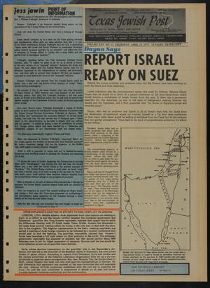 Primary view of object titled 'Texas Jewish Post (Fort Worth, Tex.), Vol. 25, No. 15, Ed. 1 Thursday, April 15, 1971'.