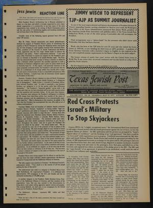 Primary view of object titled 'Texas Jewish Post (Fort Worth, Tex.), Vol. 26, No. 20, Ed. 1 Thursday, May 18, 1972'.