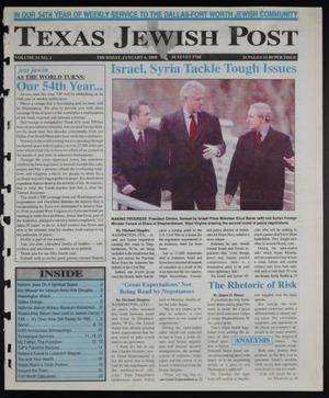 Primary view of object titled 'Texas Jewish Post (Fort Worth, Tex.), Vol. 54, No. 1, Ed. 1 Thursday, January 6, 2000'.