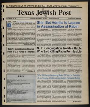Primary view of object titled 'Texas Jewish Post (Fort Worth, Tex.), Vol. 49, No. 46, Ed. 1 Thursday, November 16, 1995'.