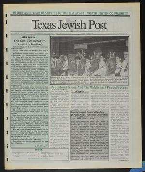 Primary view of object titled 'Texas Jewish Post (Fort Worth, Tex.), Vol. 45, No. 49, Ed. 1 Thursday, December 5, 1991'.