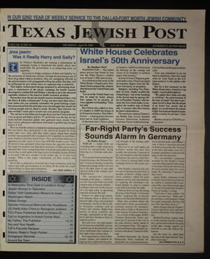 Primary view of object titled 'Texas Jewish Post (Fort Worth, Tex.), Vol. 52, No. 18, Ed. 1 Thursday, April 30, 1998'.